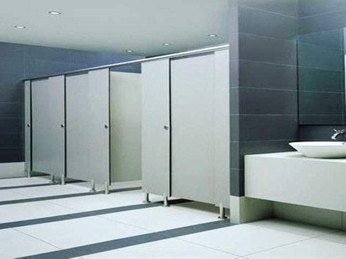 High Density Toilet PVC Partition Board Thin Thickness 15mm Glossy Solid Color