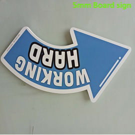 Cina Colorful 5mm PVC Sign Board Sound - Perlindung UV Resistance Digital Printing Distributor